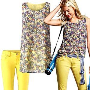 CAbi #5041 Layered Positano Tank blouse size large